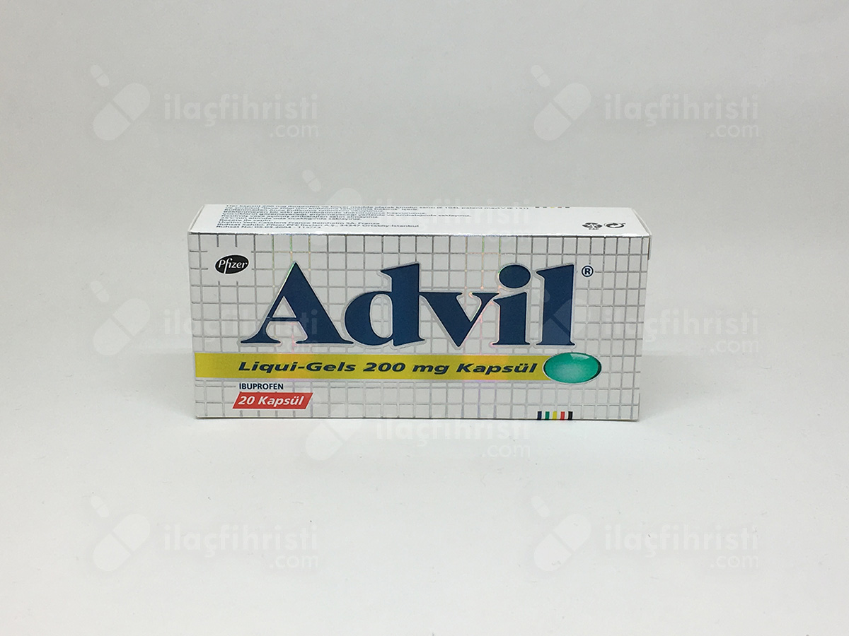 Advil liquigel 200 mg 20 kapsül