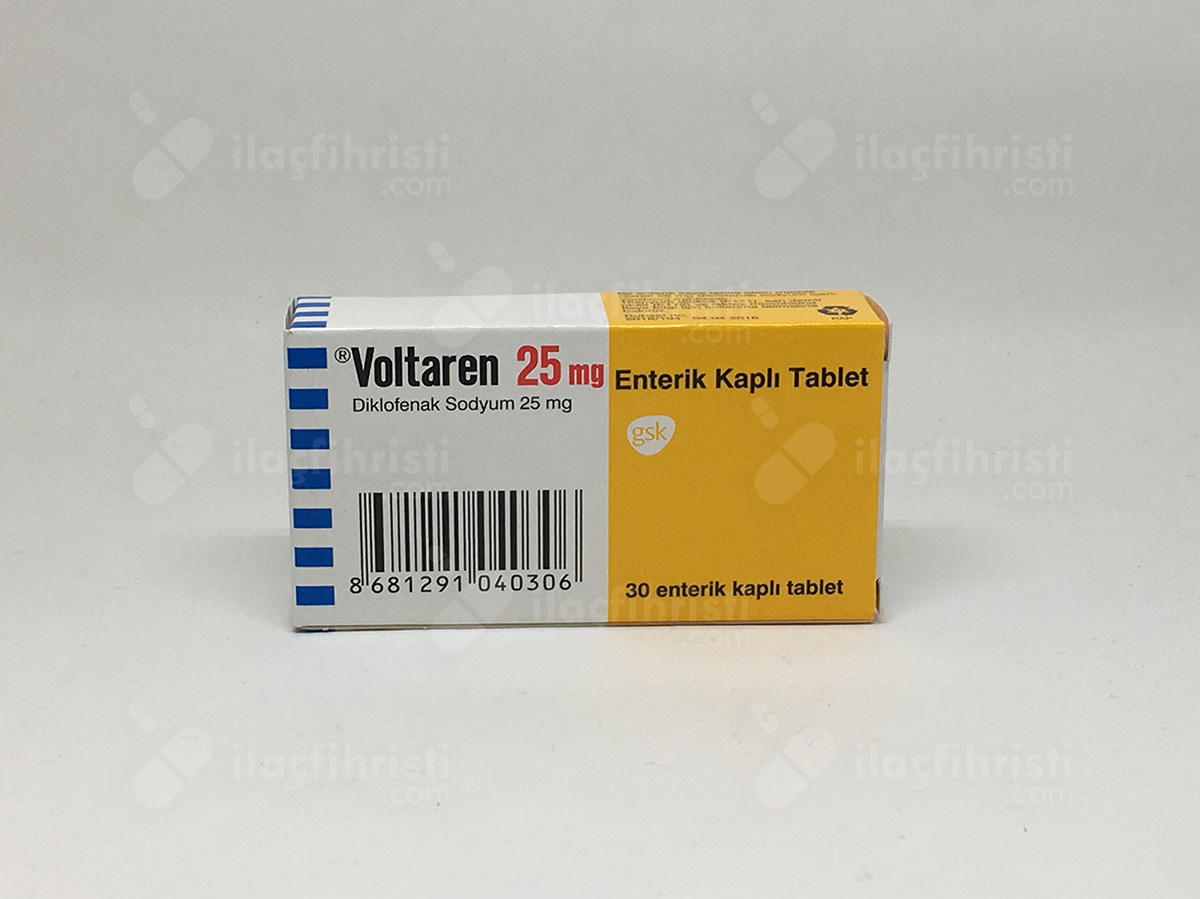 Voltaren enterik kaplı 25 mg 30 tablet