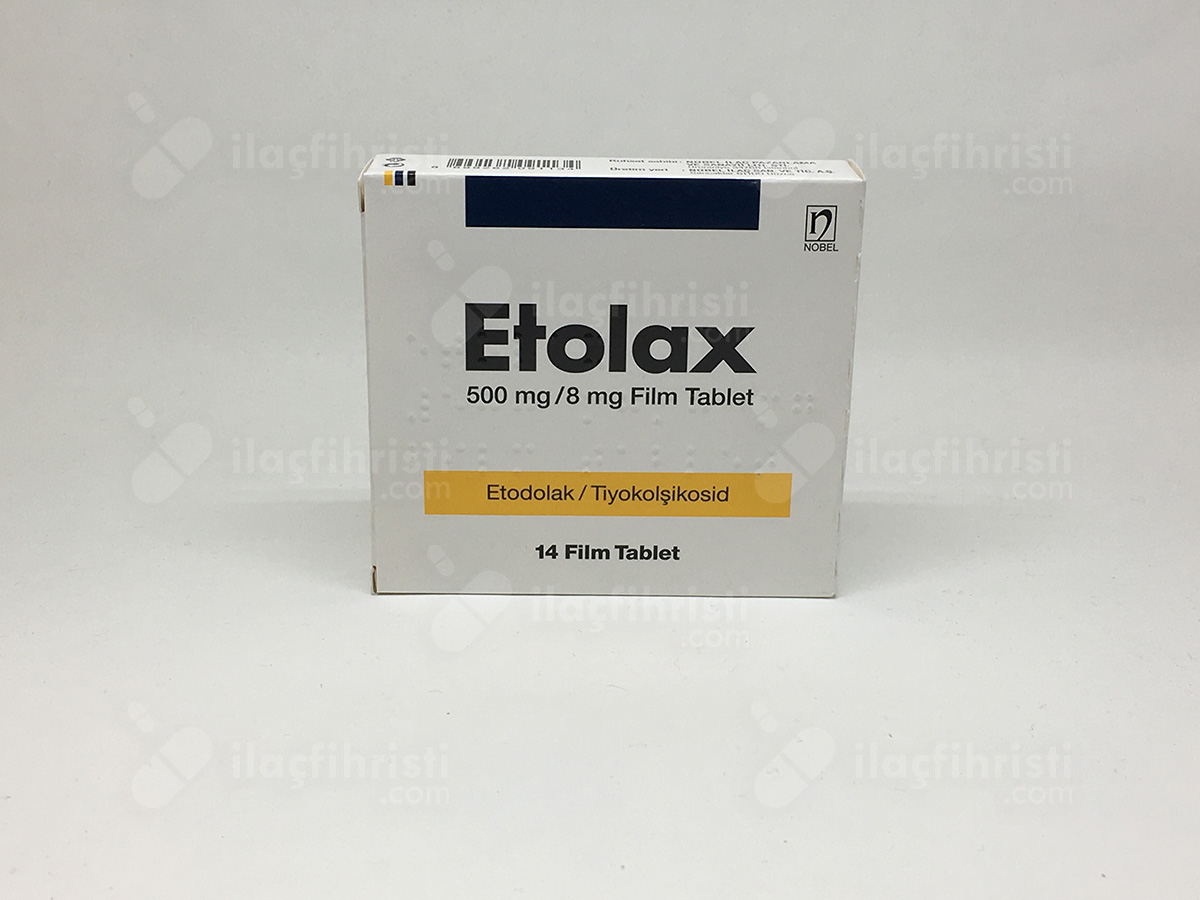 Etolax 500 mg/8 mg 14 film tablet