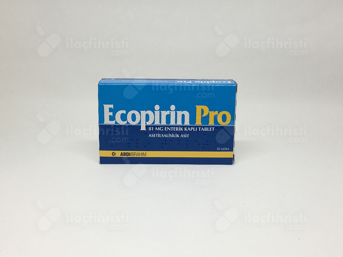 Ecopirin pro 81  mg 30 enterik kaplı tablet