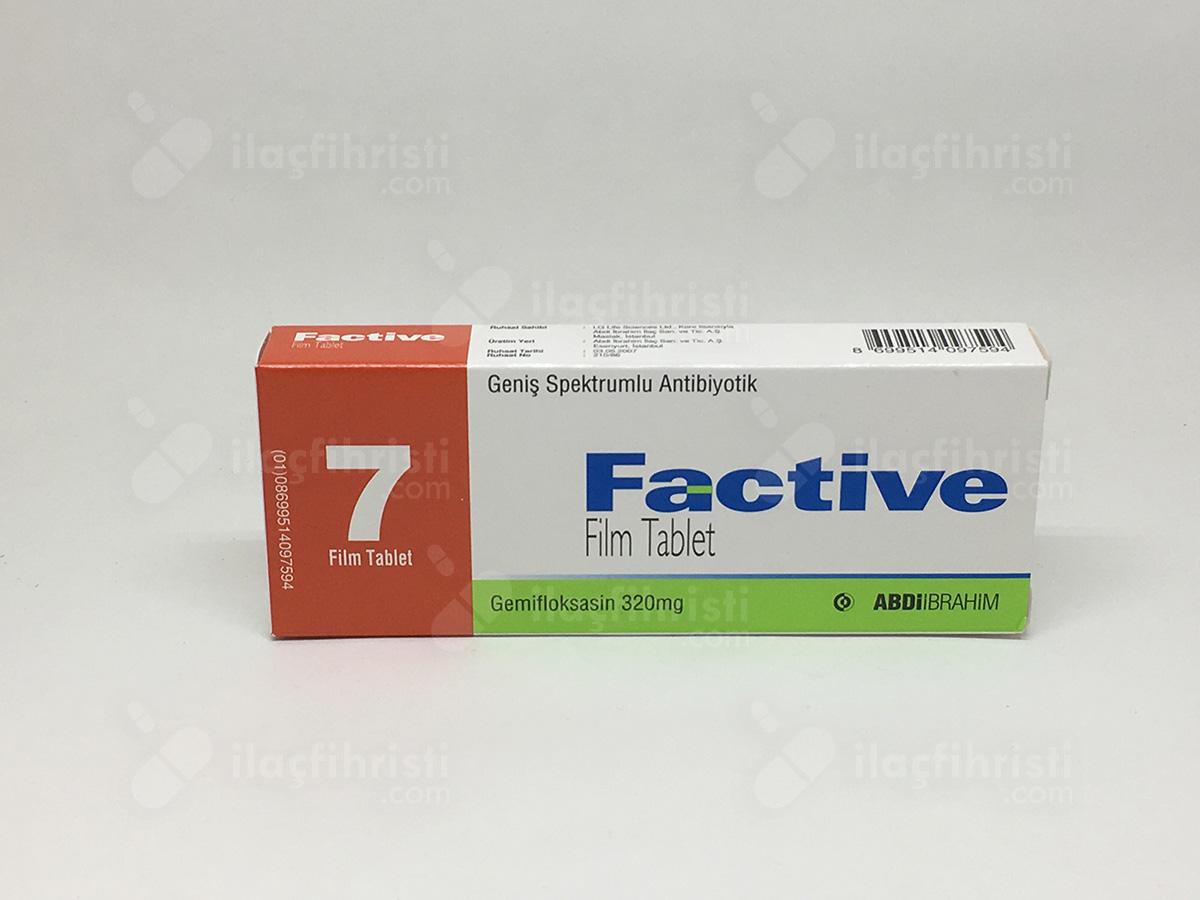 Factive 320 mg 7 tablet prospektüs, Kullanma Talimatı, kısa ürün bilgisi,  fiyat, ssk karşılıyormu, muadil, eşdeğerleri