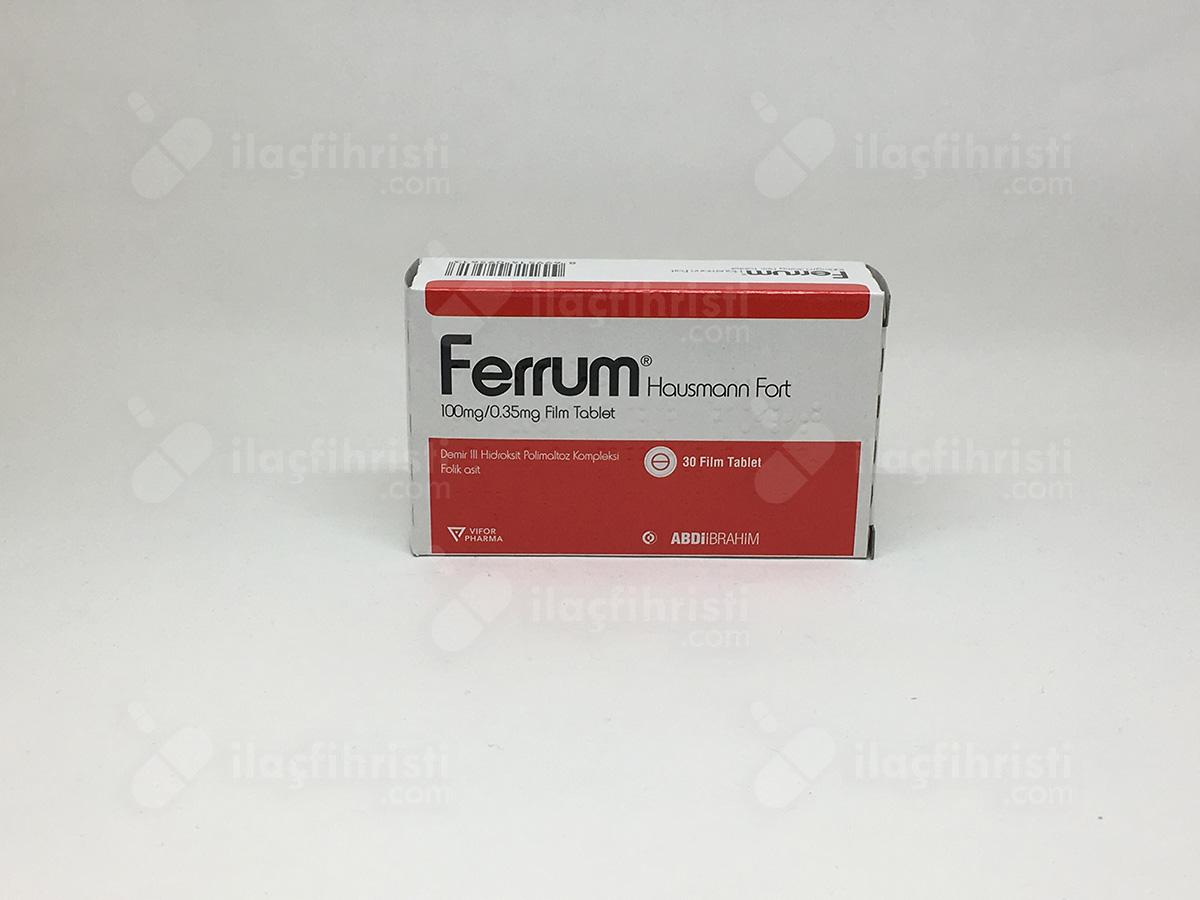 Ferrum hausman fort 100 mg 30 draje