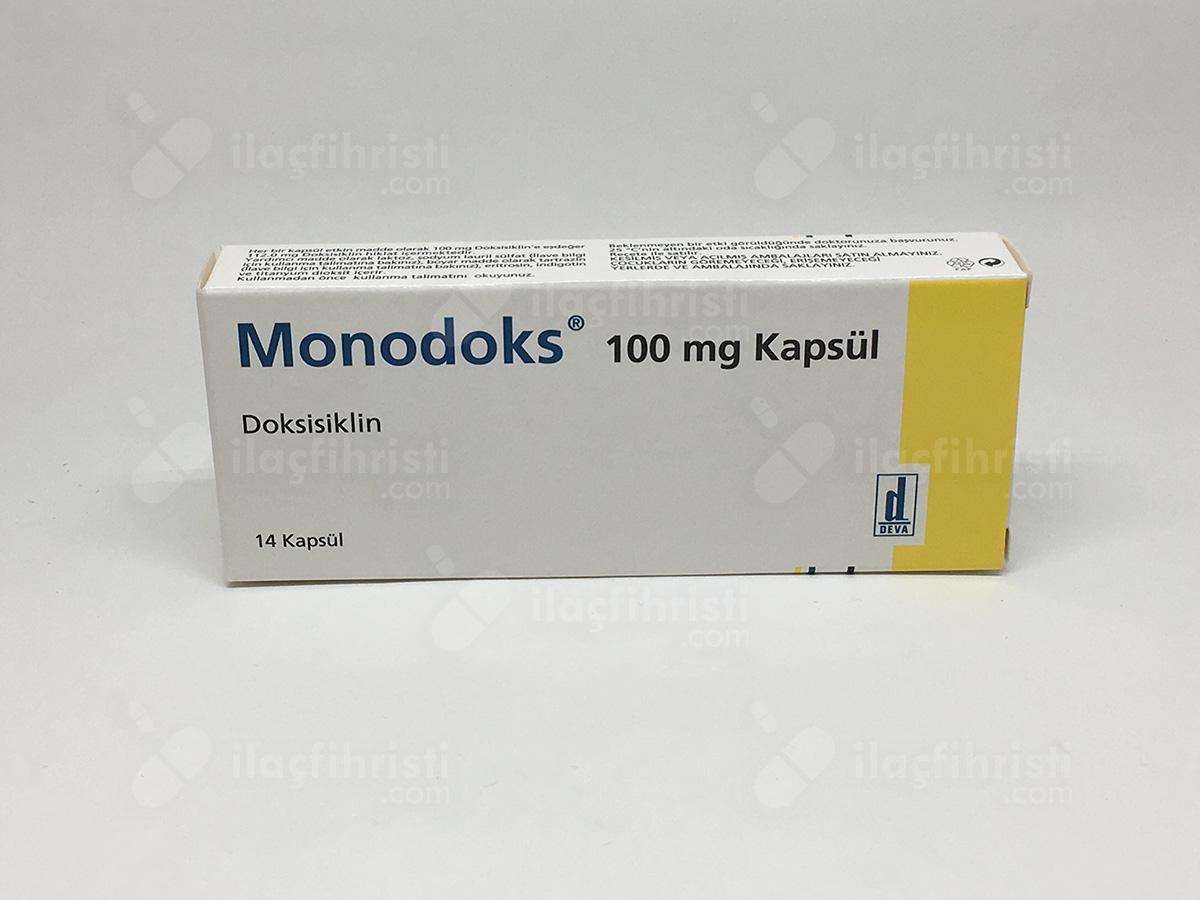 Monodoks 100 mg 14 kapsül