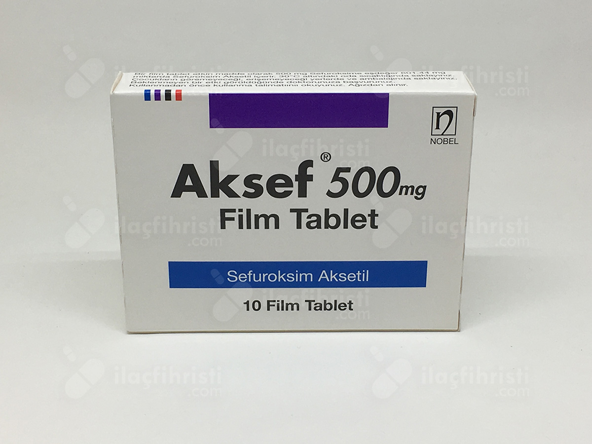 Aksef 500 mg 10 film tablet