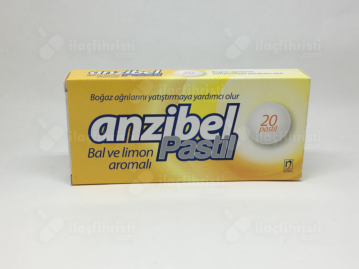 Anzibel bal ve limon 20 pastil