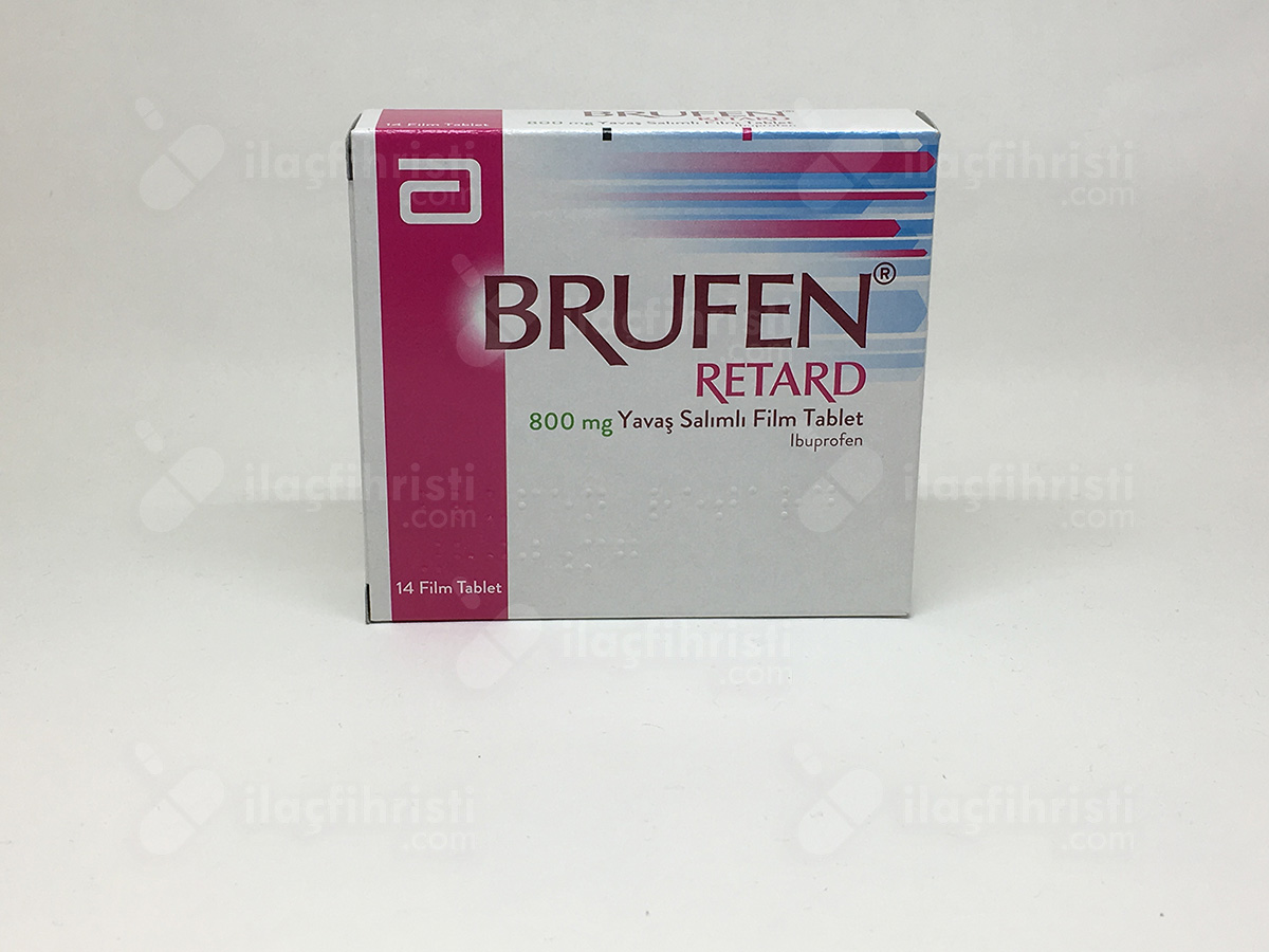 Brufen retard 800 mg yavas salımlı 14 film tablet