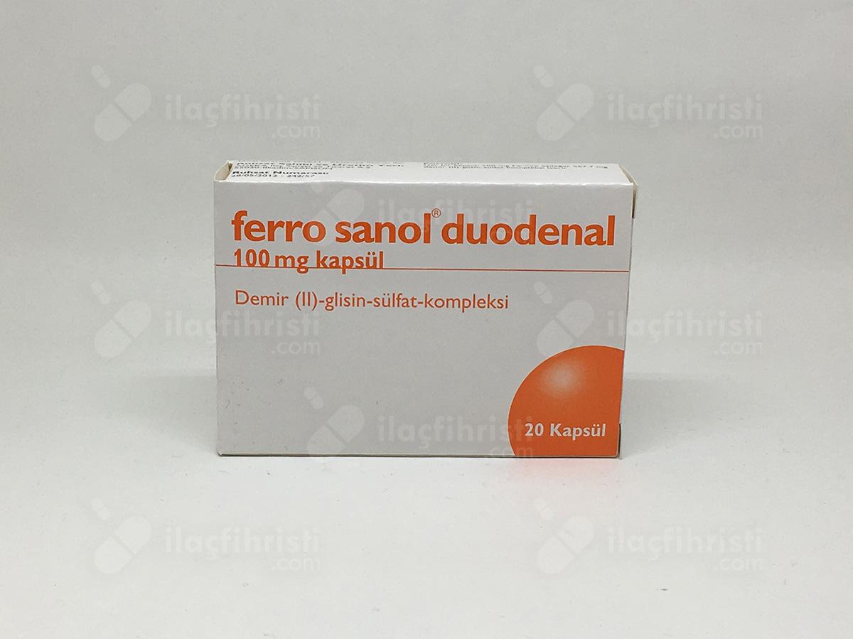 Ferro sanol 20 duodenal kapsül