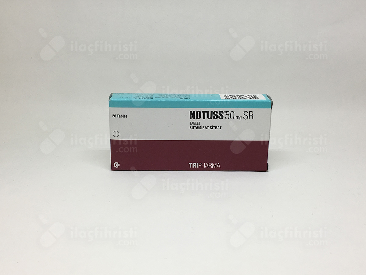 Notuss 50 mg sr 20 tablet